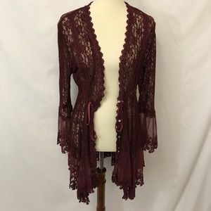 ADORE Lace Jacket Cardigan Cover UP Romantic XL